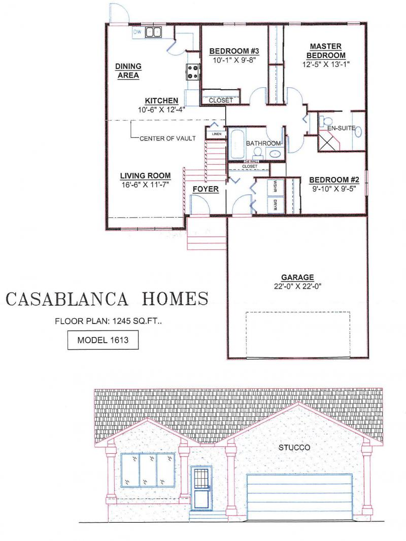Casablanca homes house plans for House plans manitoba